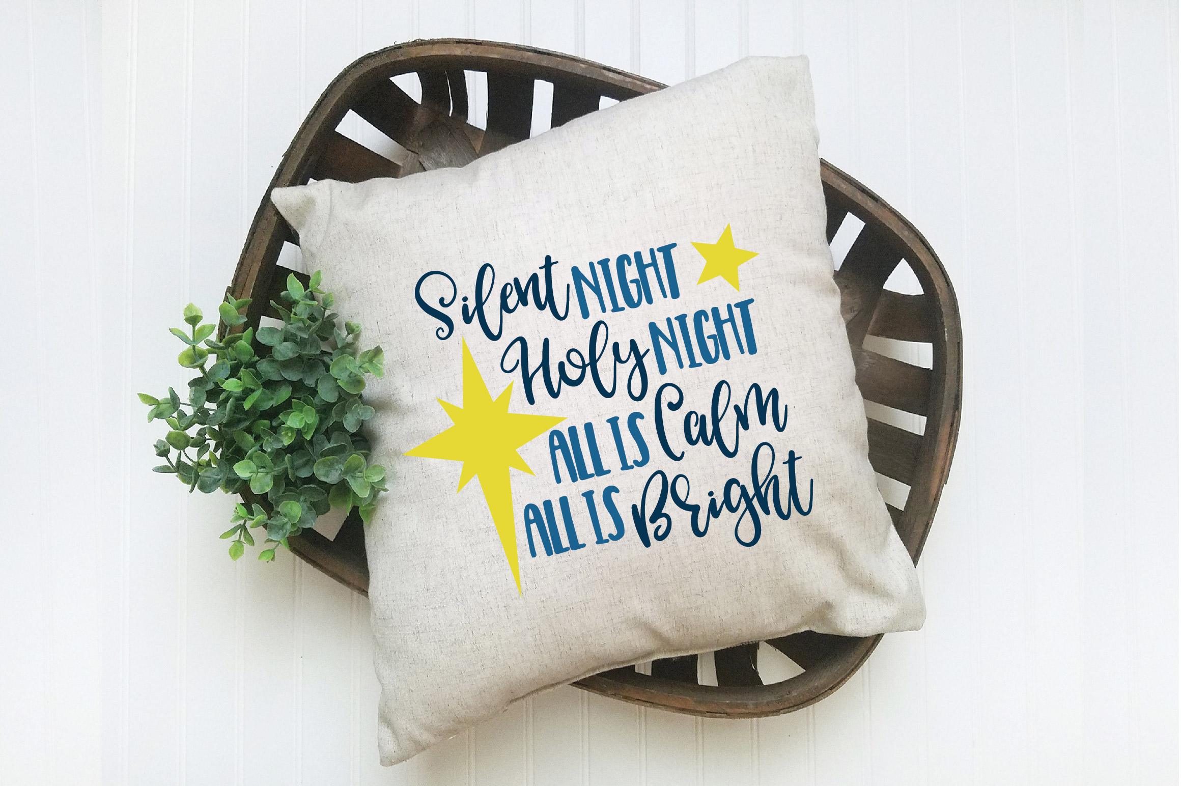 Silent Night SVG Cut File - Christmas SVG - DXF - PNG - EPS example image 2
