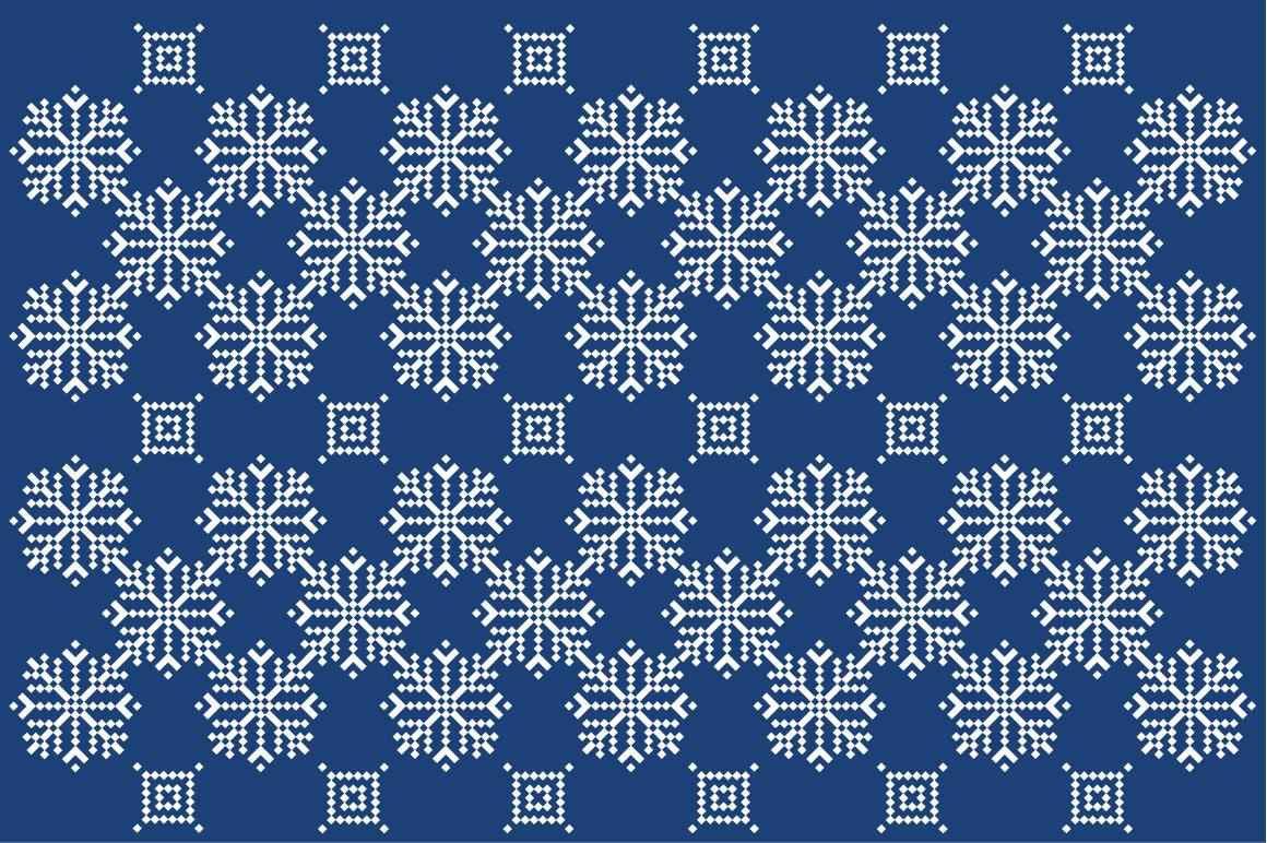 Christmas snowflake pattern example image 3
