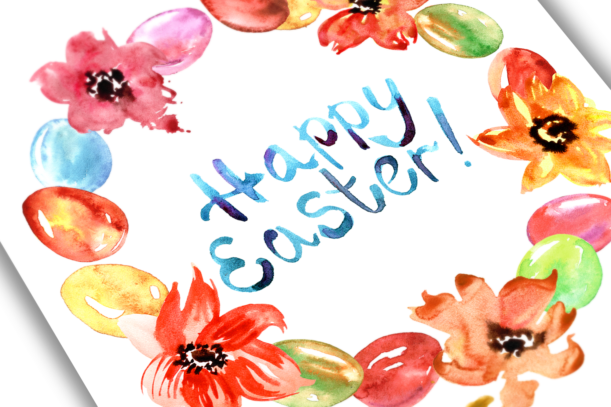 Watercolor Happy Easter example image 5