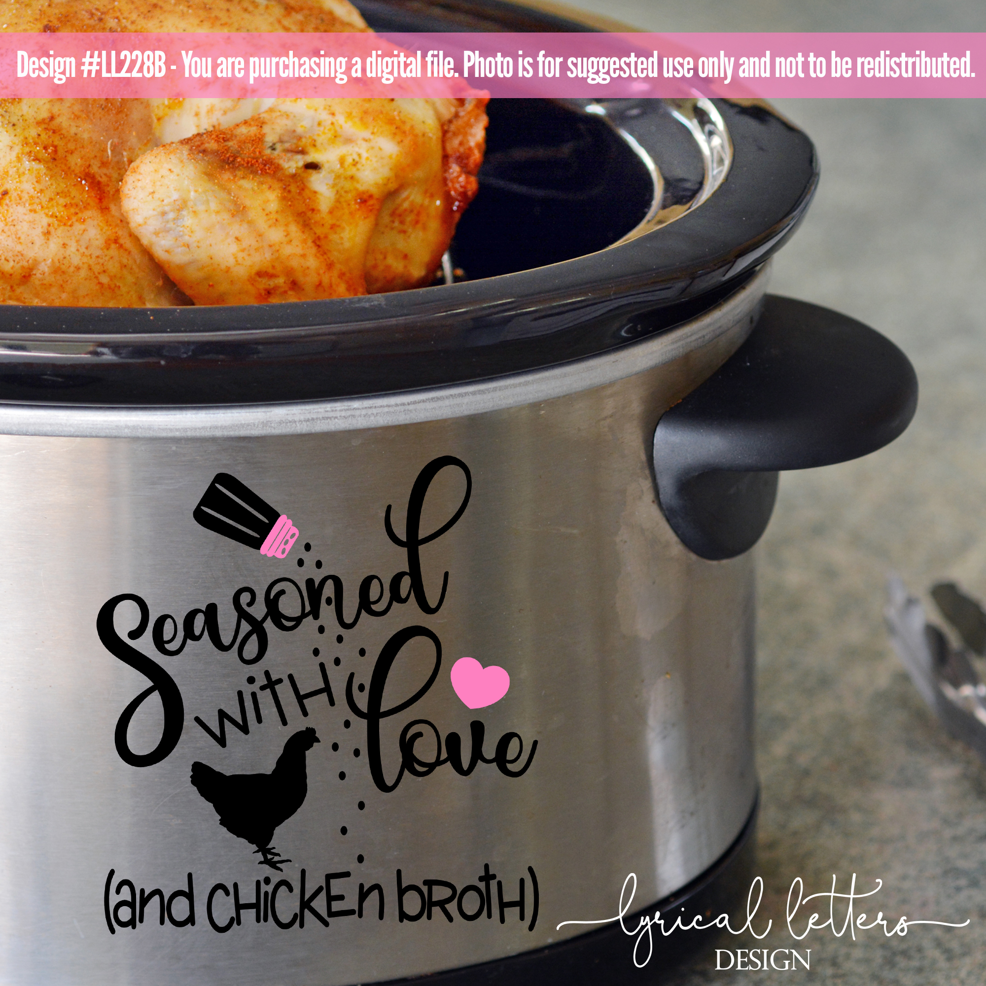 Slow Cooker Pressure Cooker Seasoned With Love SVG DXF LL228 example image 2
