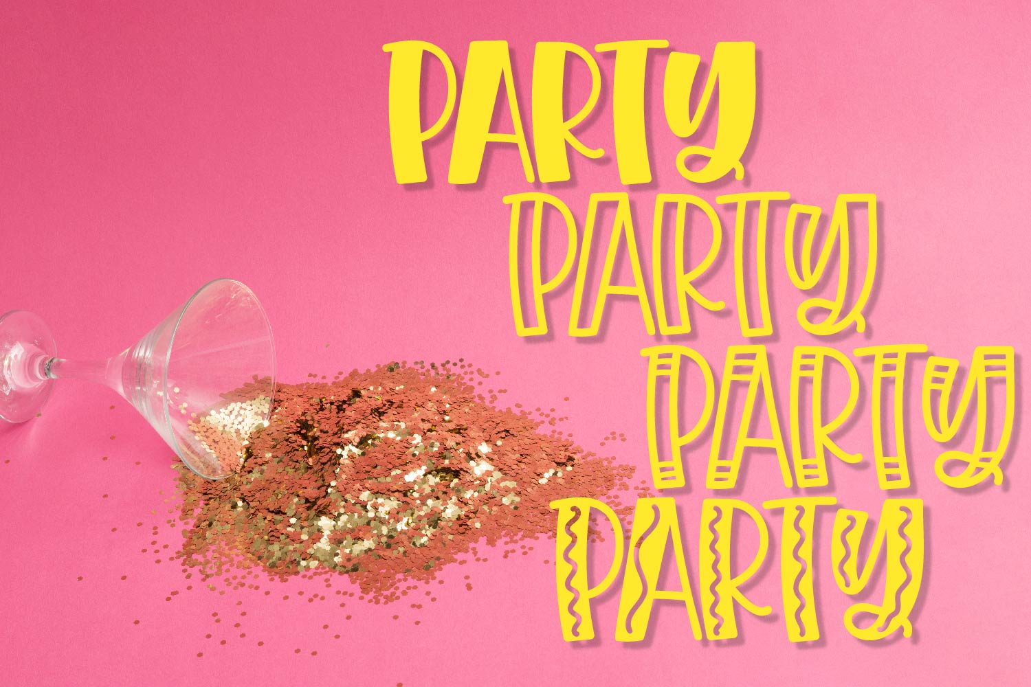 Quad Party - A Crazy Four Font Family example image 8