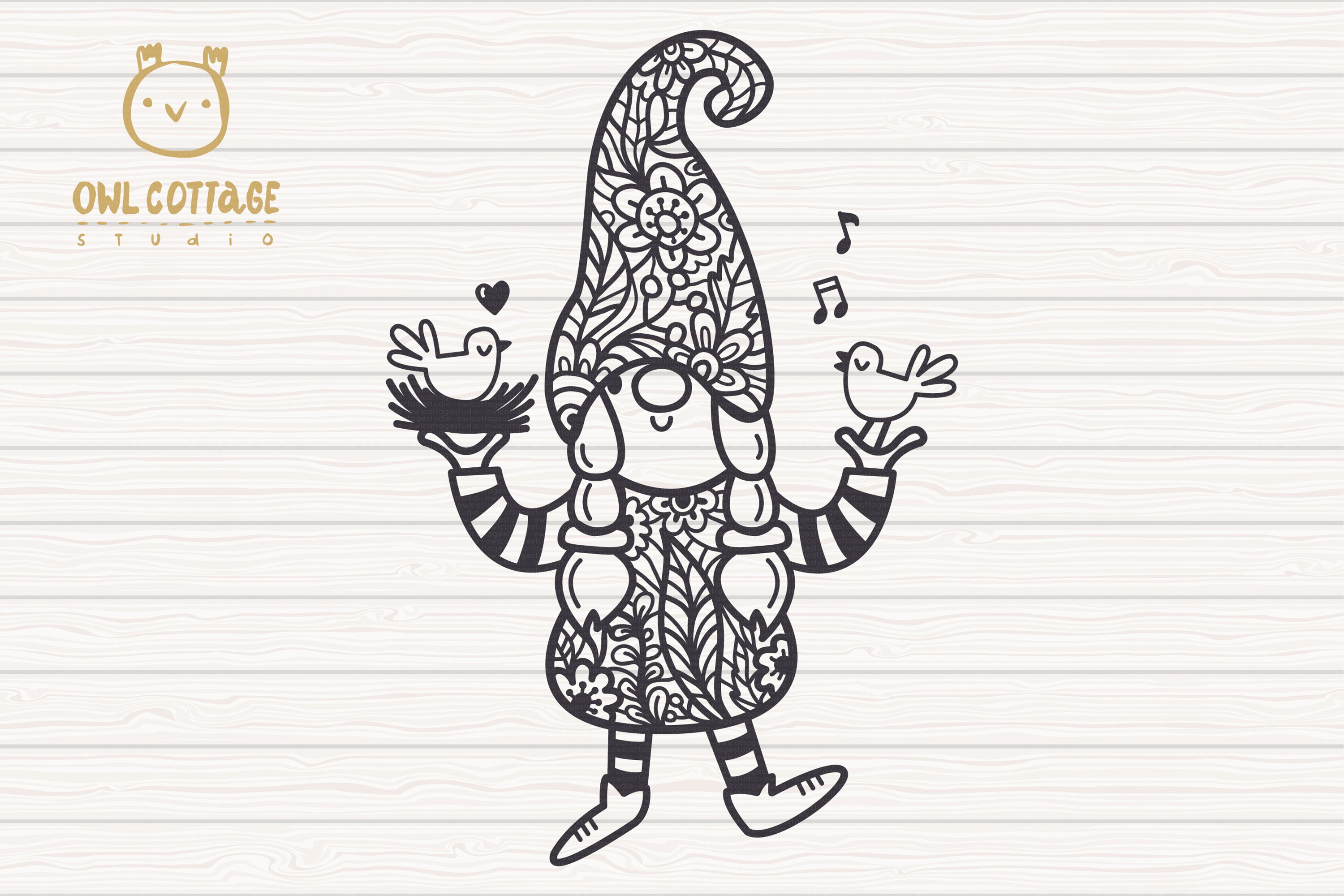 Spring Floral Gnomes SVG, Mr. and Mrs Gnomes, Tomte example image 3
