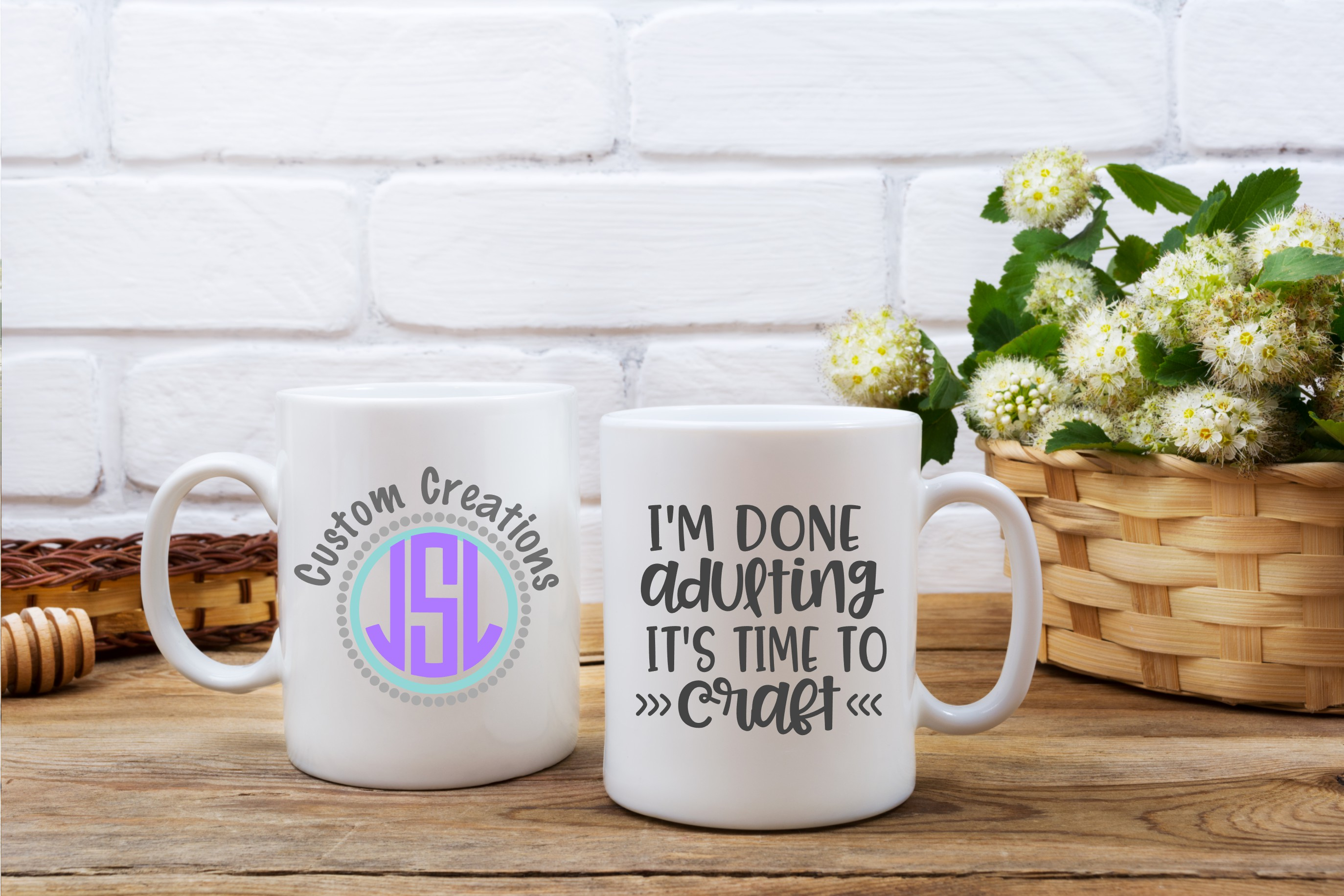I'm Done Adulting It's Time to Craft| SVG DXF EPS PNG Files example image 2