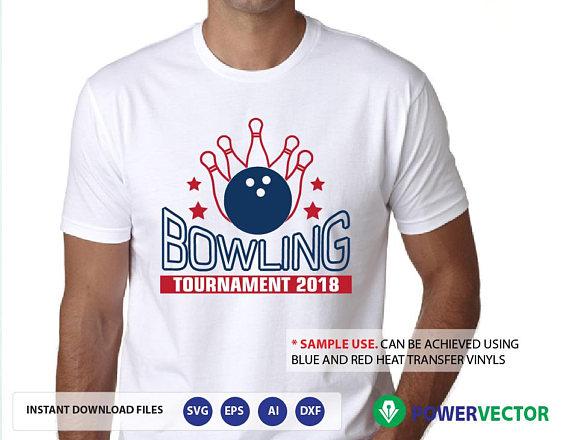 Bowling Tournament Svg Team Dxf Png Eps Vinyl Cut Files