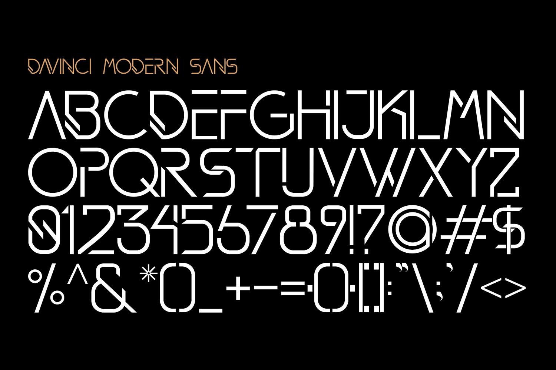 DAVINCI FONTS   MODERN SANS example image 8