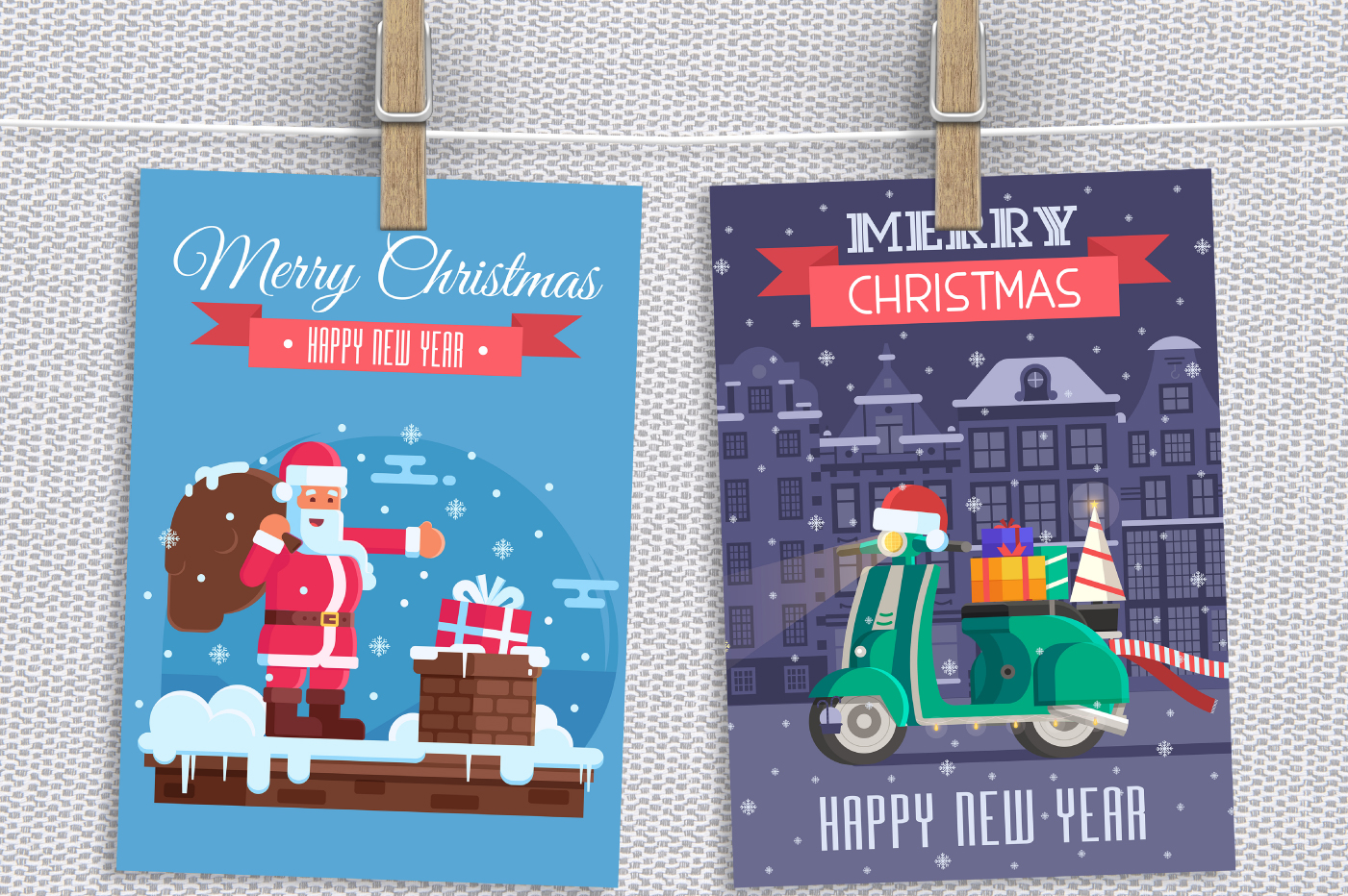Santa Delivery Service Cards and Scenes example image 7