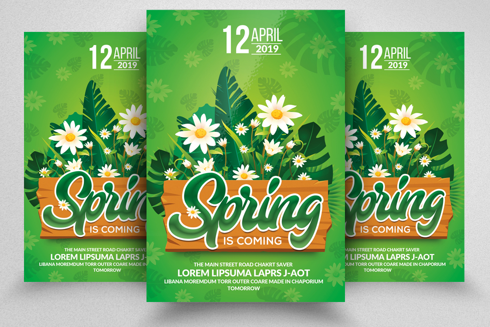 4 Spring Flyers Bundle example image 2