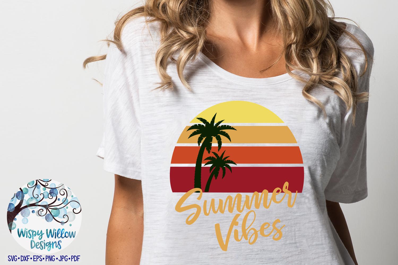 Summer Vibes SVG | Summer SVG | Beach Sunset SVG Cut File example image 2