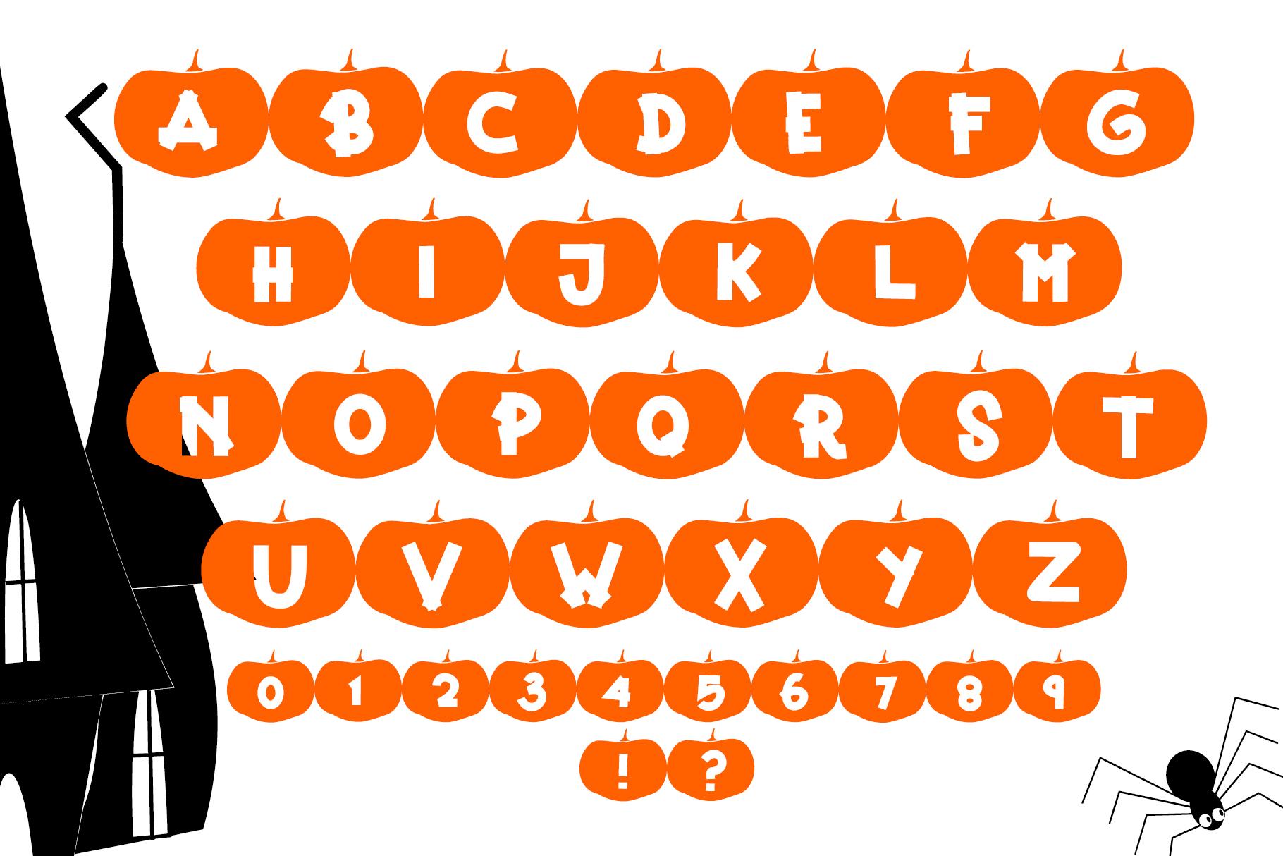 Happy Pumpkins - Pumpkin Decoration Font example image 5