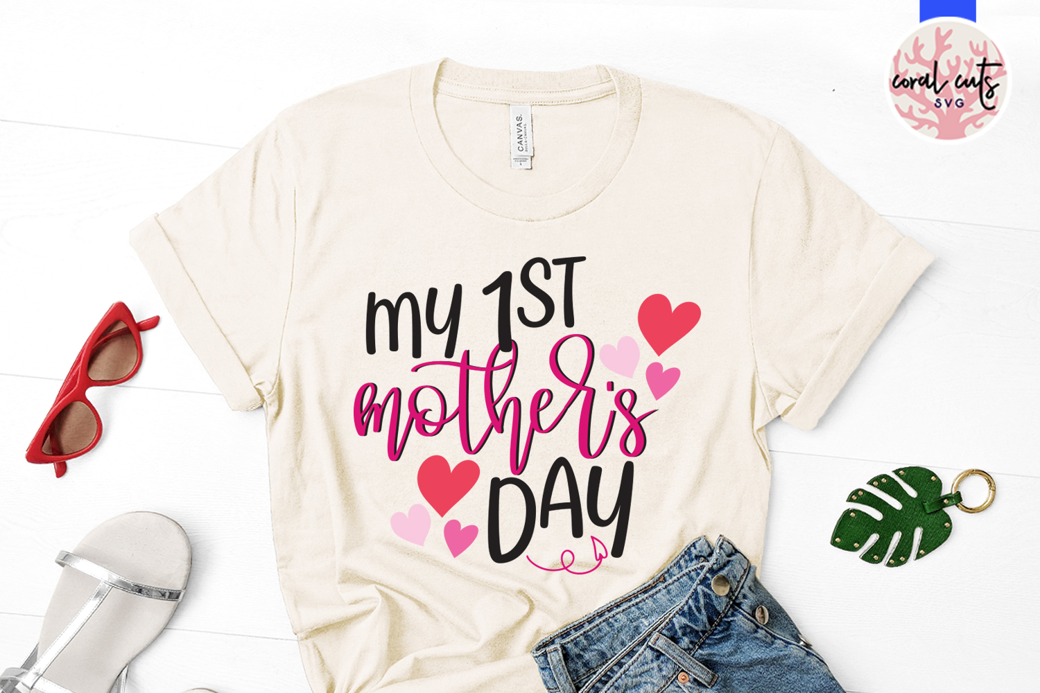 My 1st mother's day - Mother SVG EPS DXF PNG File example image 2