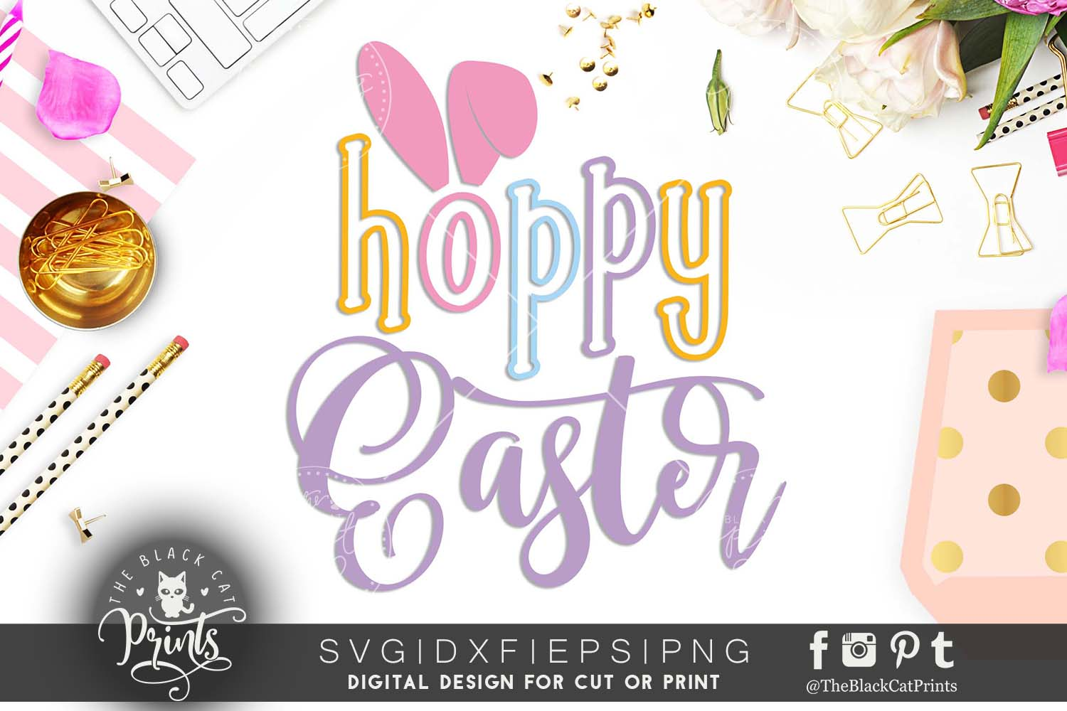 Hoppy Easter SVG DXF PNG EPS example image 2