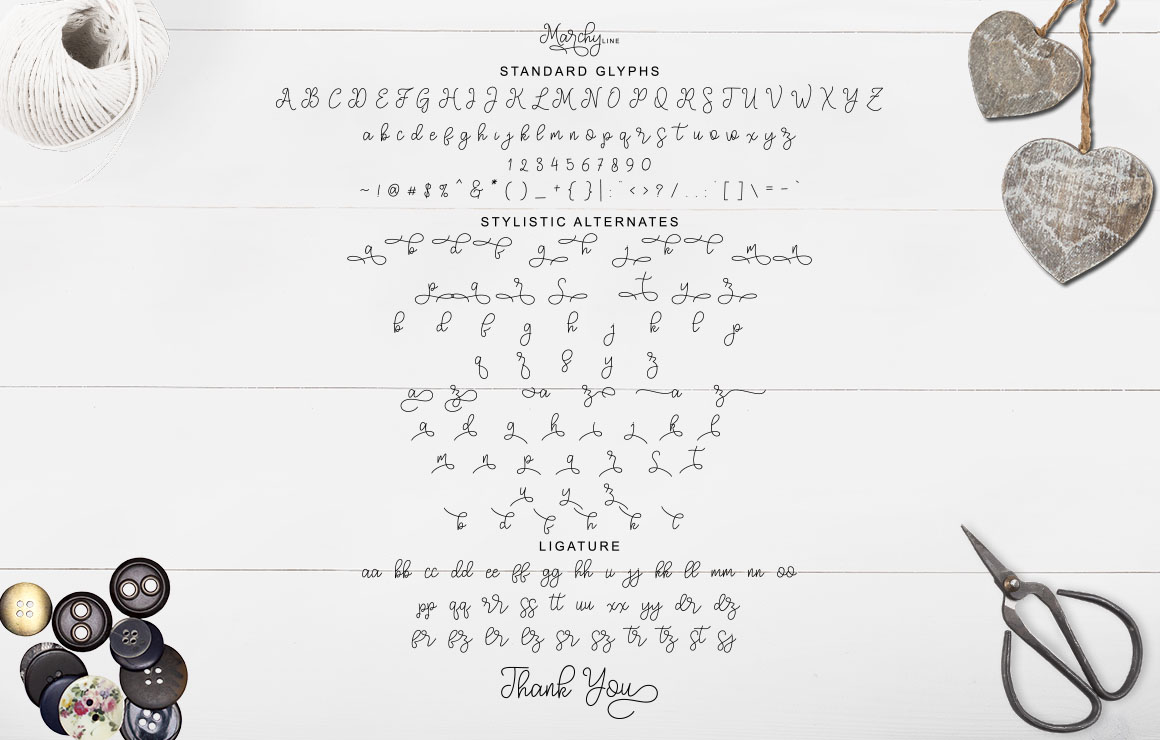 Marchy Script example image 16