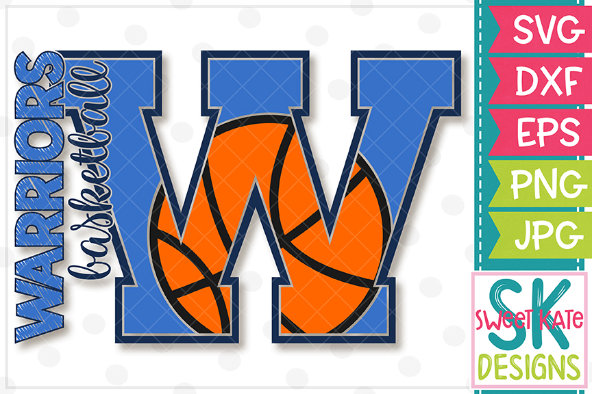 W Warriors Basketball SVG DXF EPS PNG JPG example image 3
