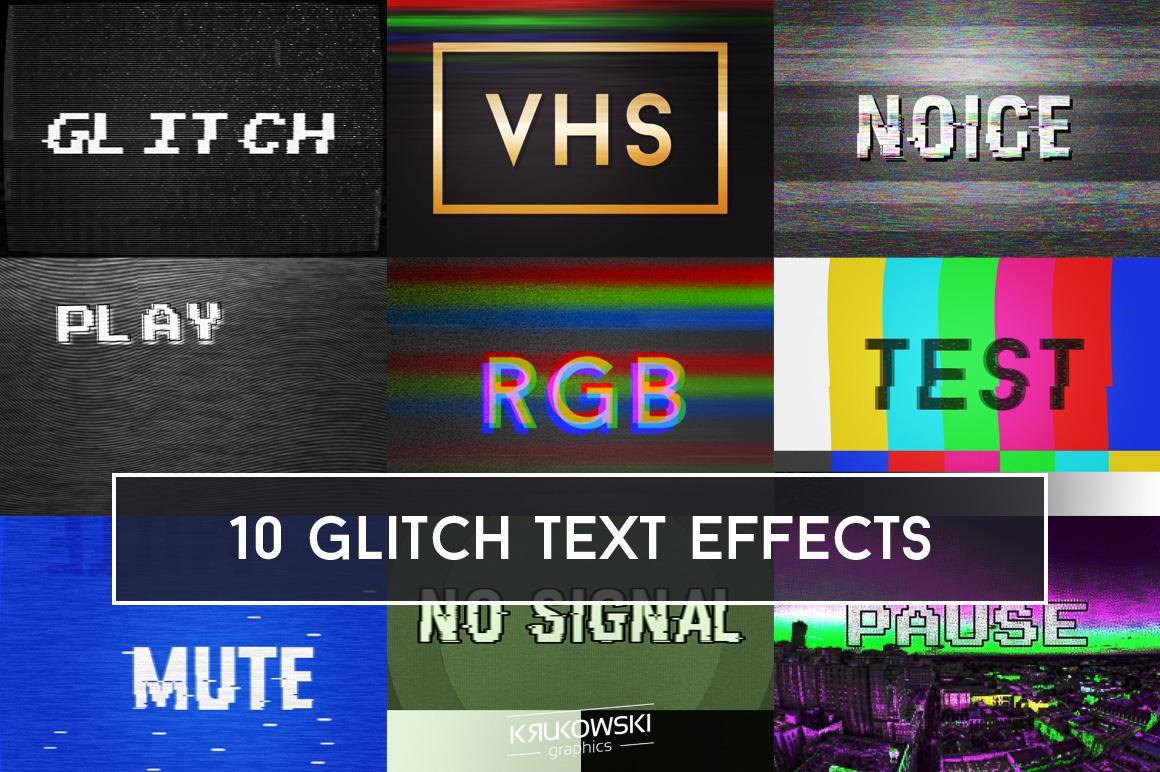 Glitch Text Effects Mockup example image 1