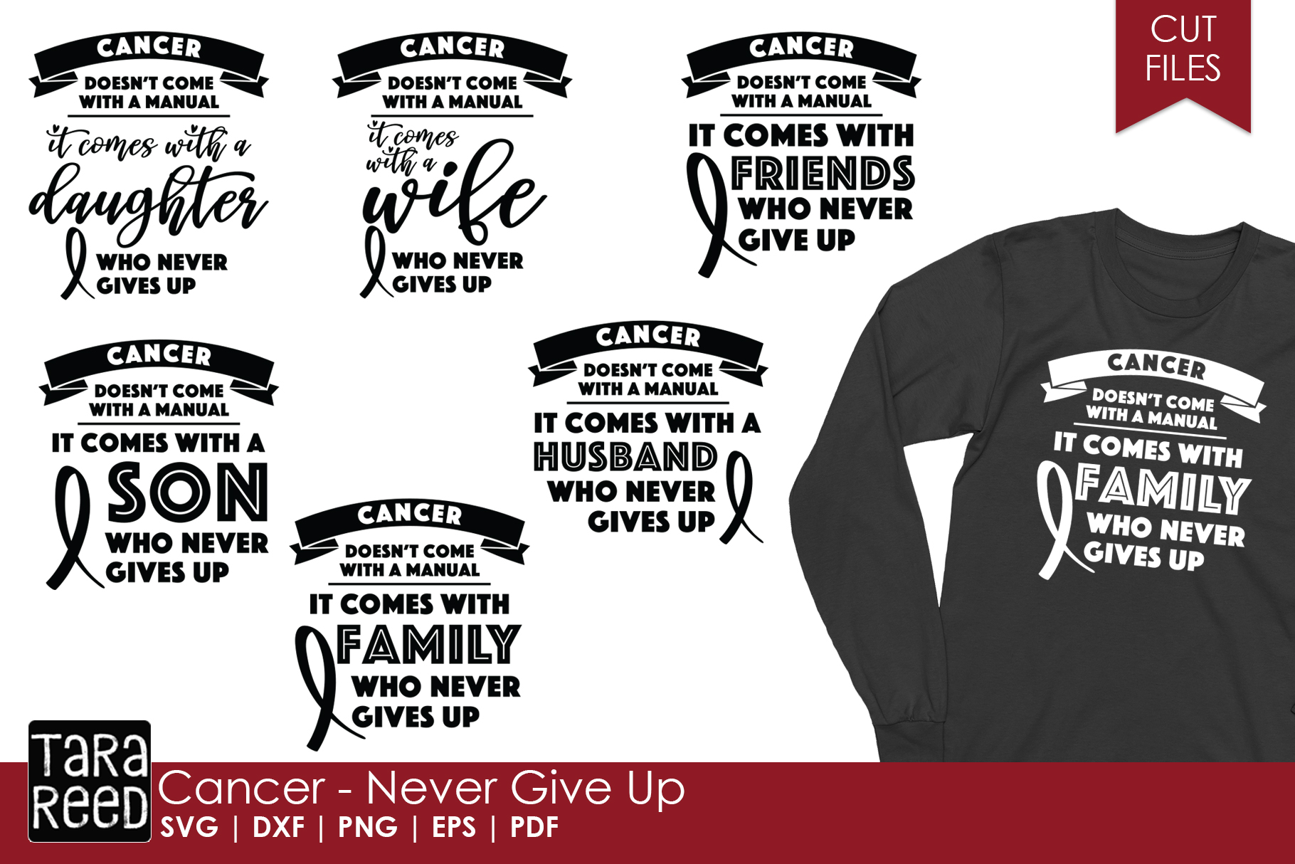 Cancer Awareness - Cancer SVG Files for Crafters example image 1