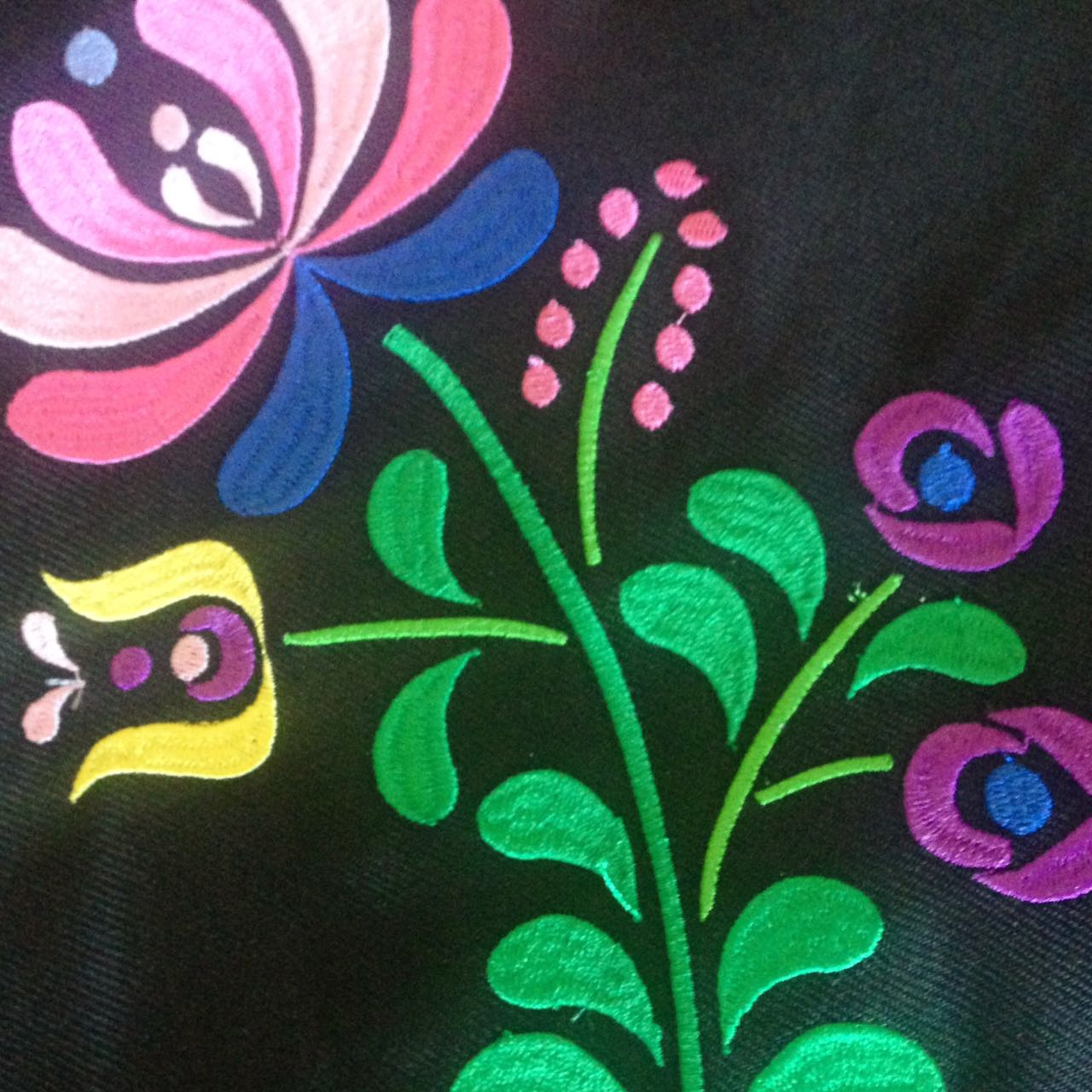 Flower JAZ embroidery design, 179 x 129.7 mm (7´ x 5´) embroidery matrix, different sizes embroidery design Embroidery matrix, Mexican design example image 5