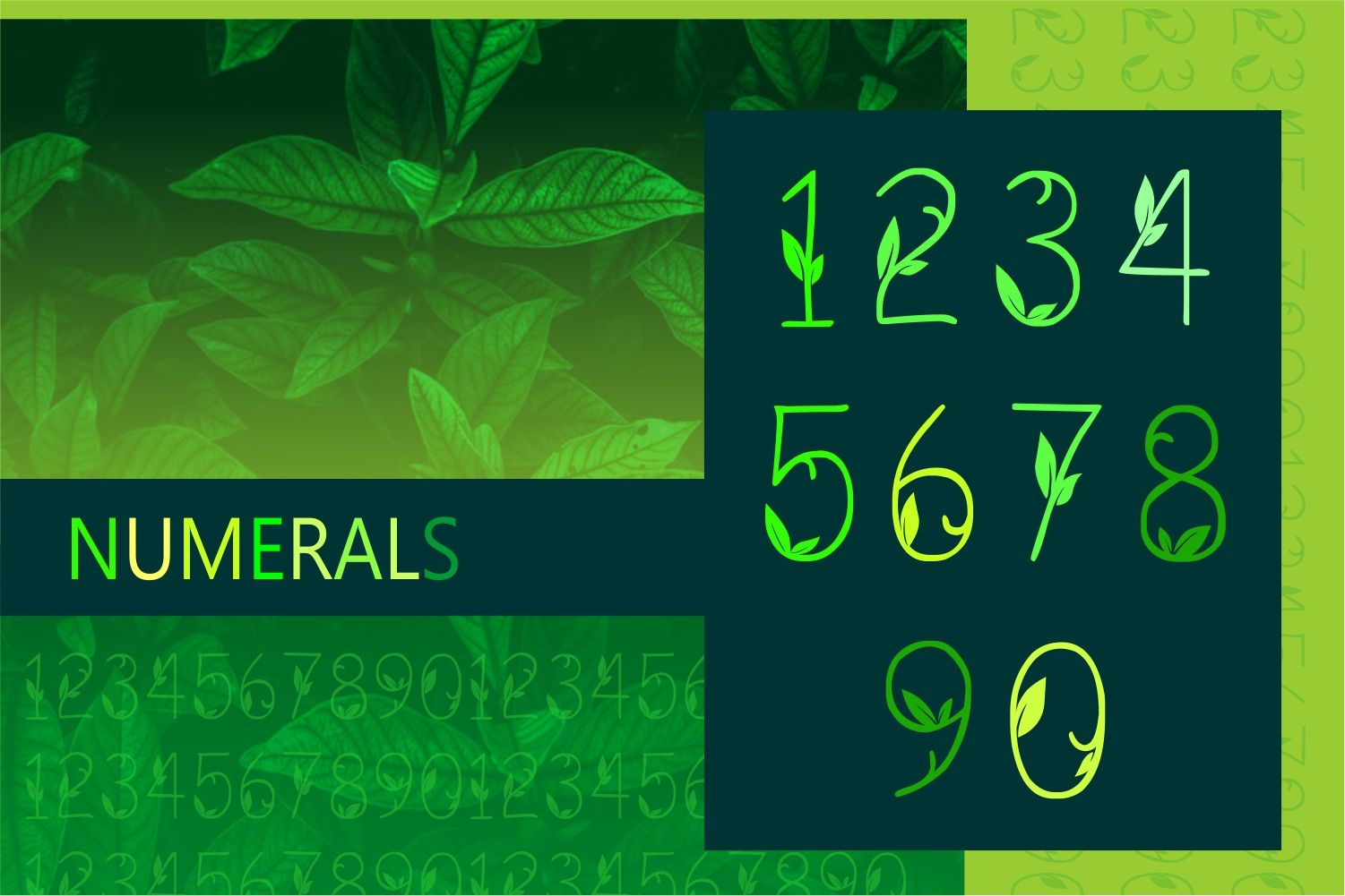 GREEN NATURE FONT example image 4