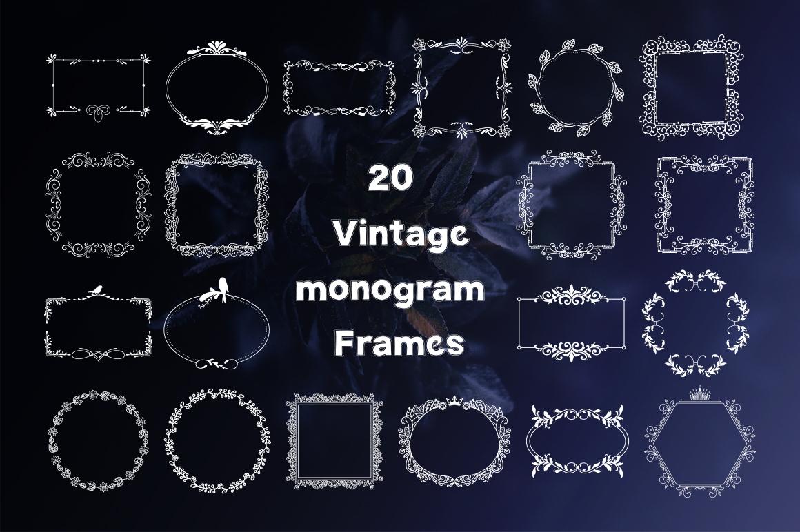 Monogram. 5 elegant fonts. example image 3