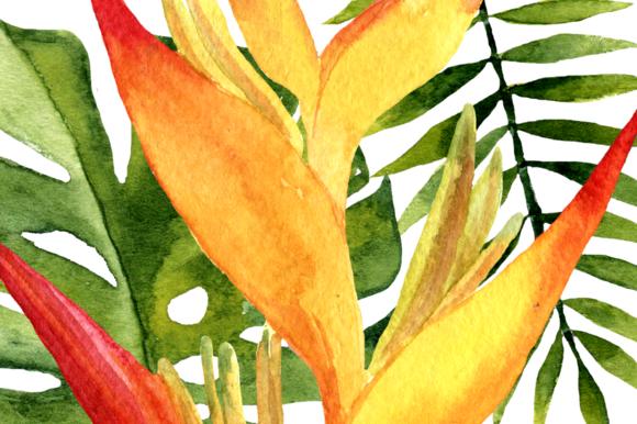 Watercolor Tropic Clip Art example image 3