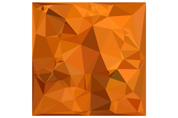 Dark Orange Carrot Abstract Low Polygon Background example image 1