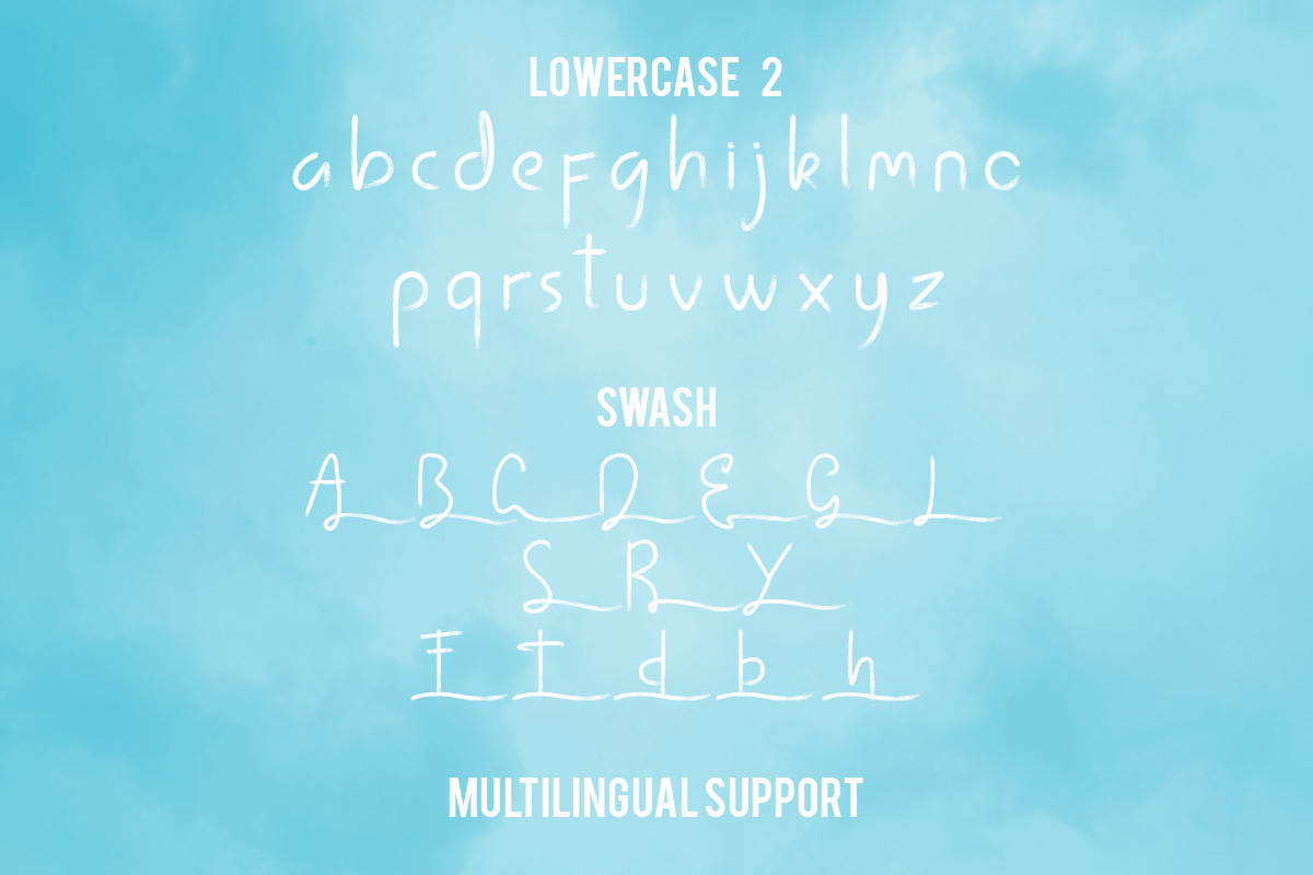 lintang handwritten brush font example image 5