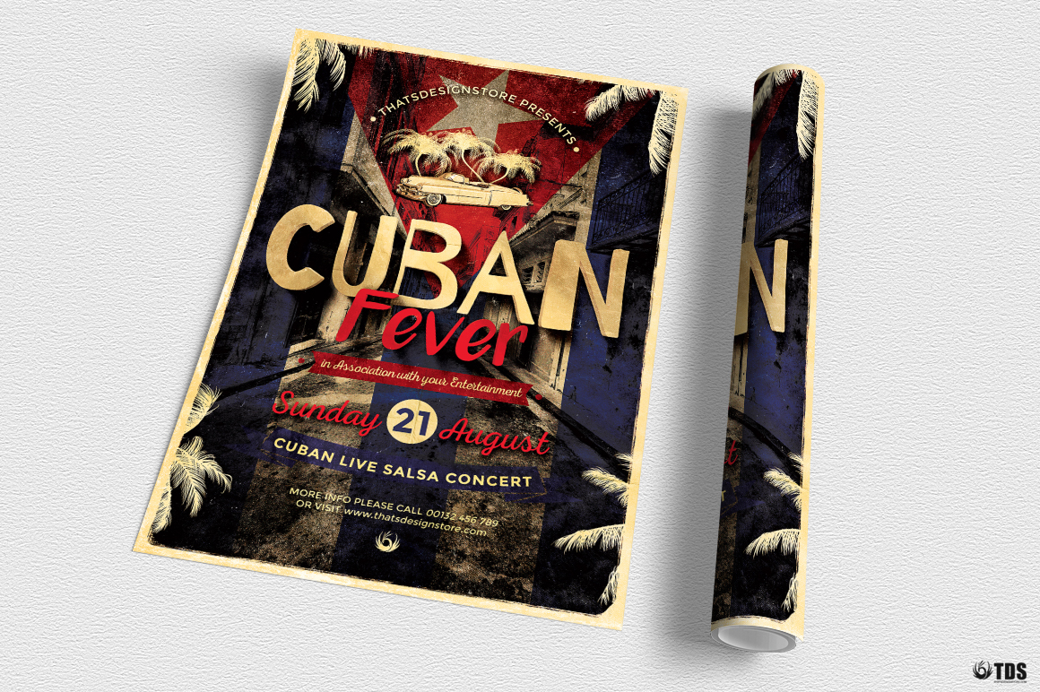 Cuban Fever Flyer Template example image 3