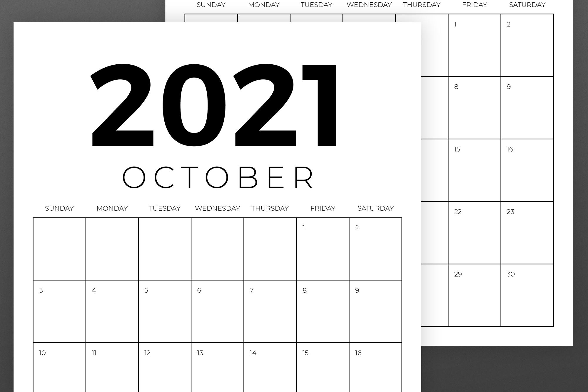Vertical 8.5 x 11 Inch 2021 Calendar example image 6