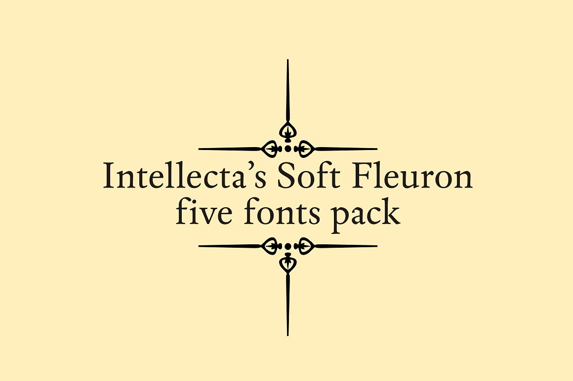 Soft Fleurons Pack - five fonts example image 4