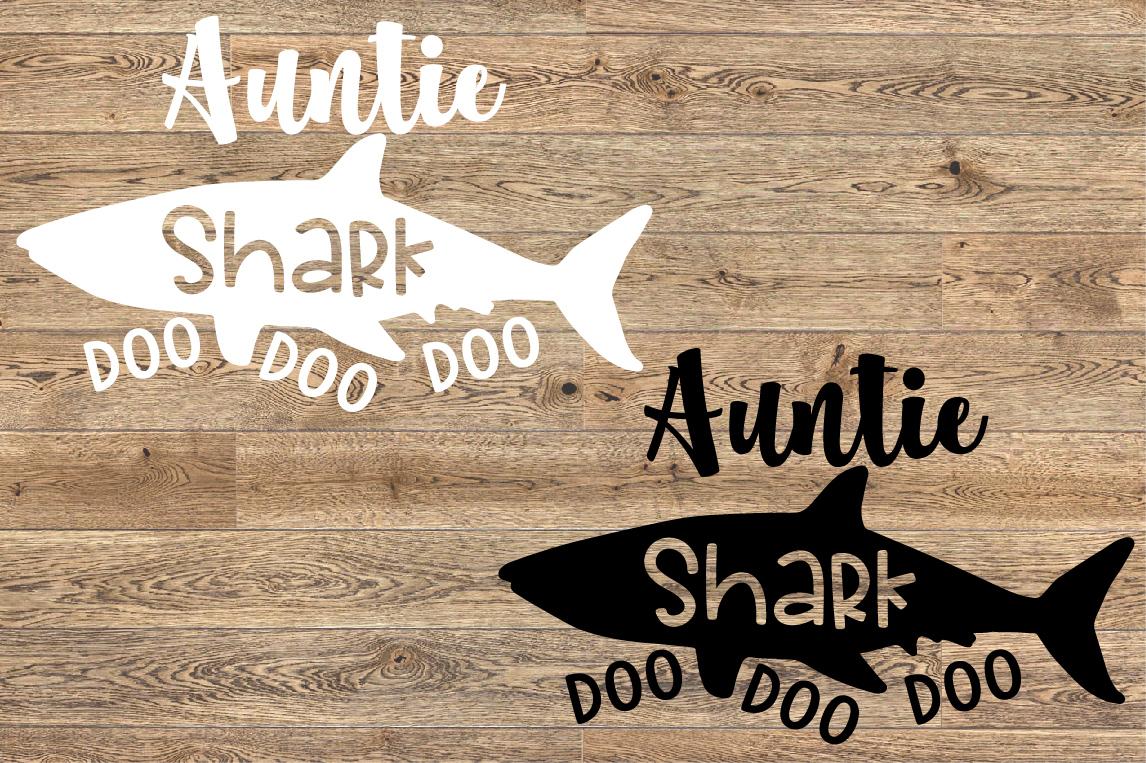 Auntie Shark SVG Doo Doo Doo Family Birthday Sea World 1309S example image 2