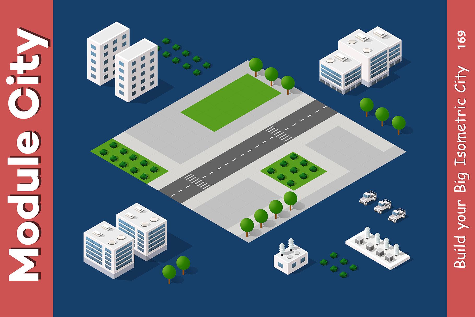 Isometric set module city example image 17
