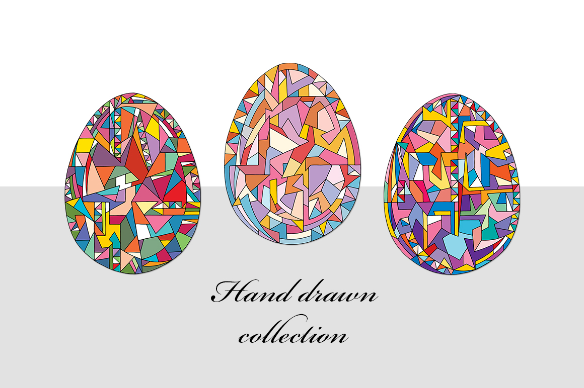 Easter eggs vector set example image 4