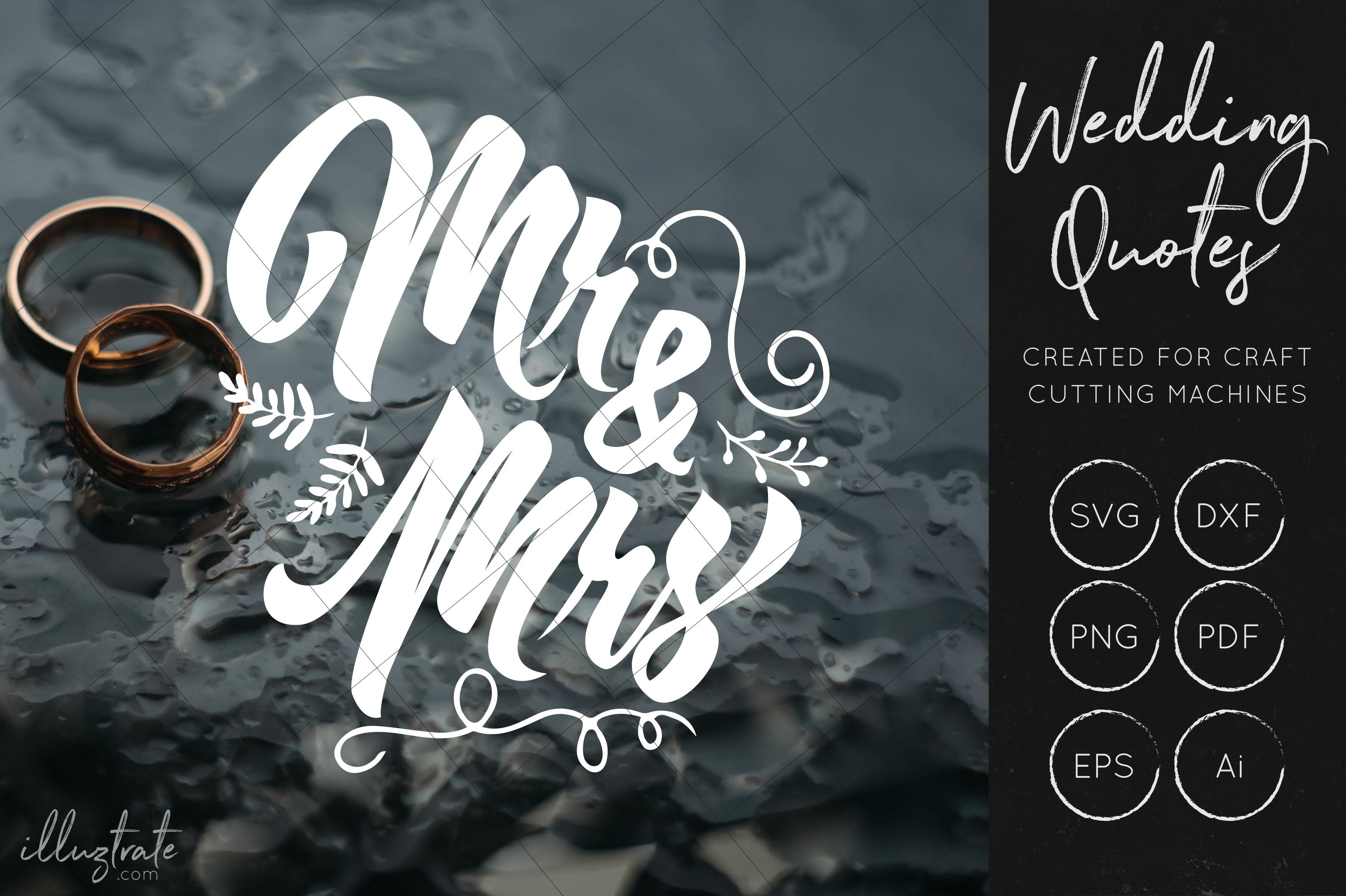 Wedding SVG Cut Files Bundle - Wedding Quotes - Wedding SVG example image 11