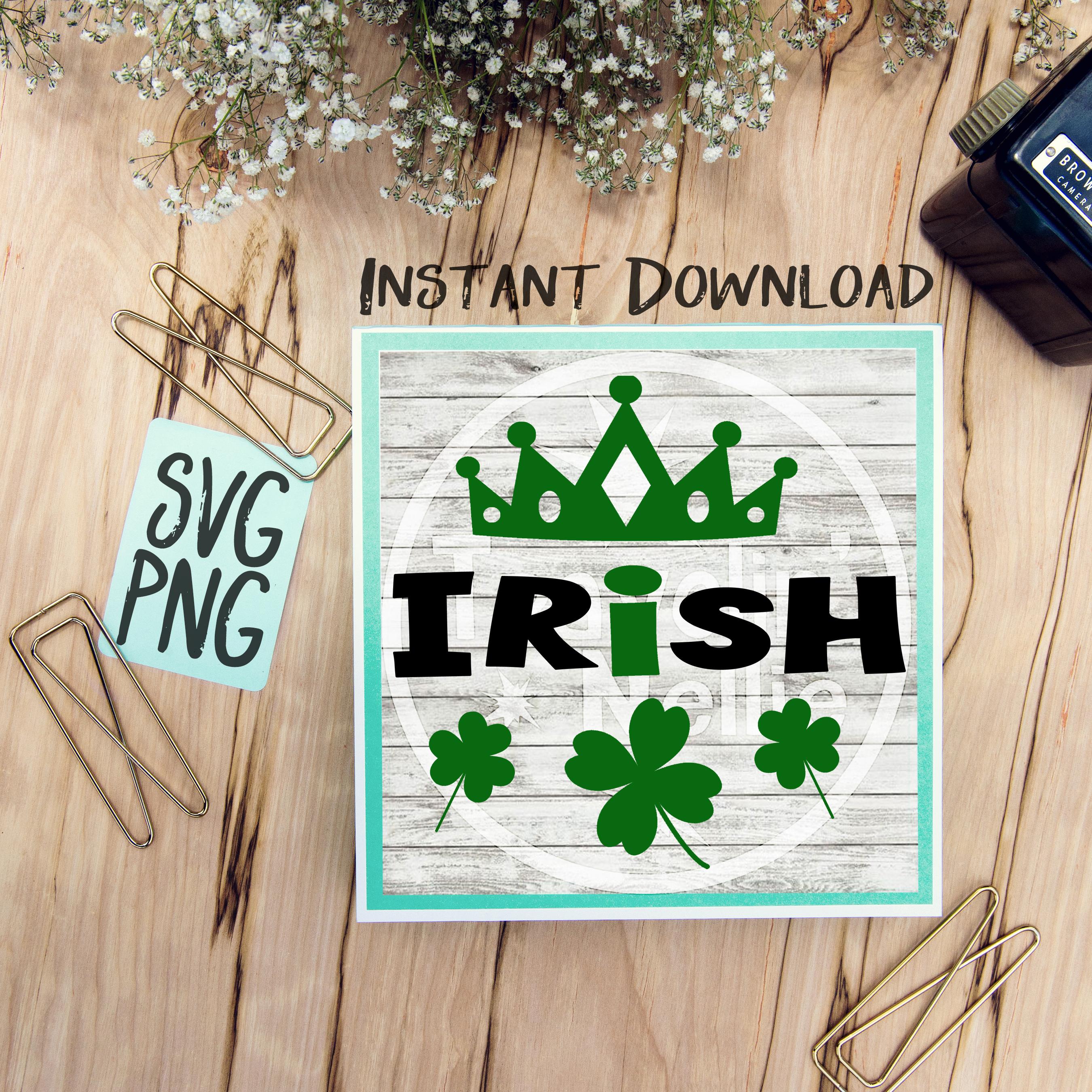Irish Princess SVG PNG Image Design for Cut Machines Print DIY Design Brother Cricut Cameo Cutout St. Patrick's Day Irish Clover Lucky example image 1