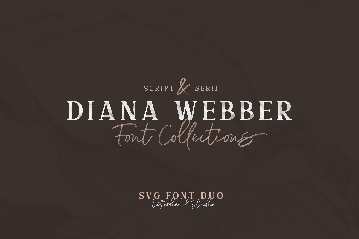 Diana Webber - SVG Font Duo example image 2
