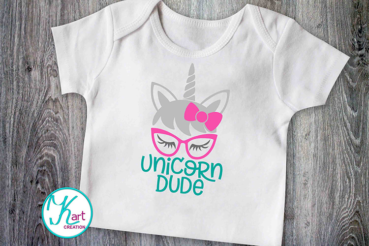Unicorn face horn girl bundle svg dxf cutting files clipart example image 2
