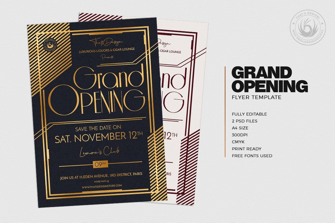 Grand Opening Flyer Template V2 example image 2