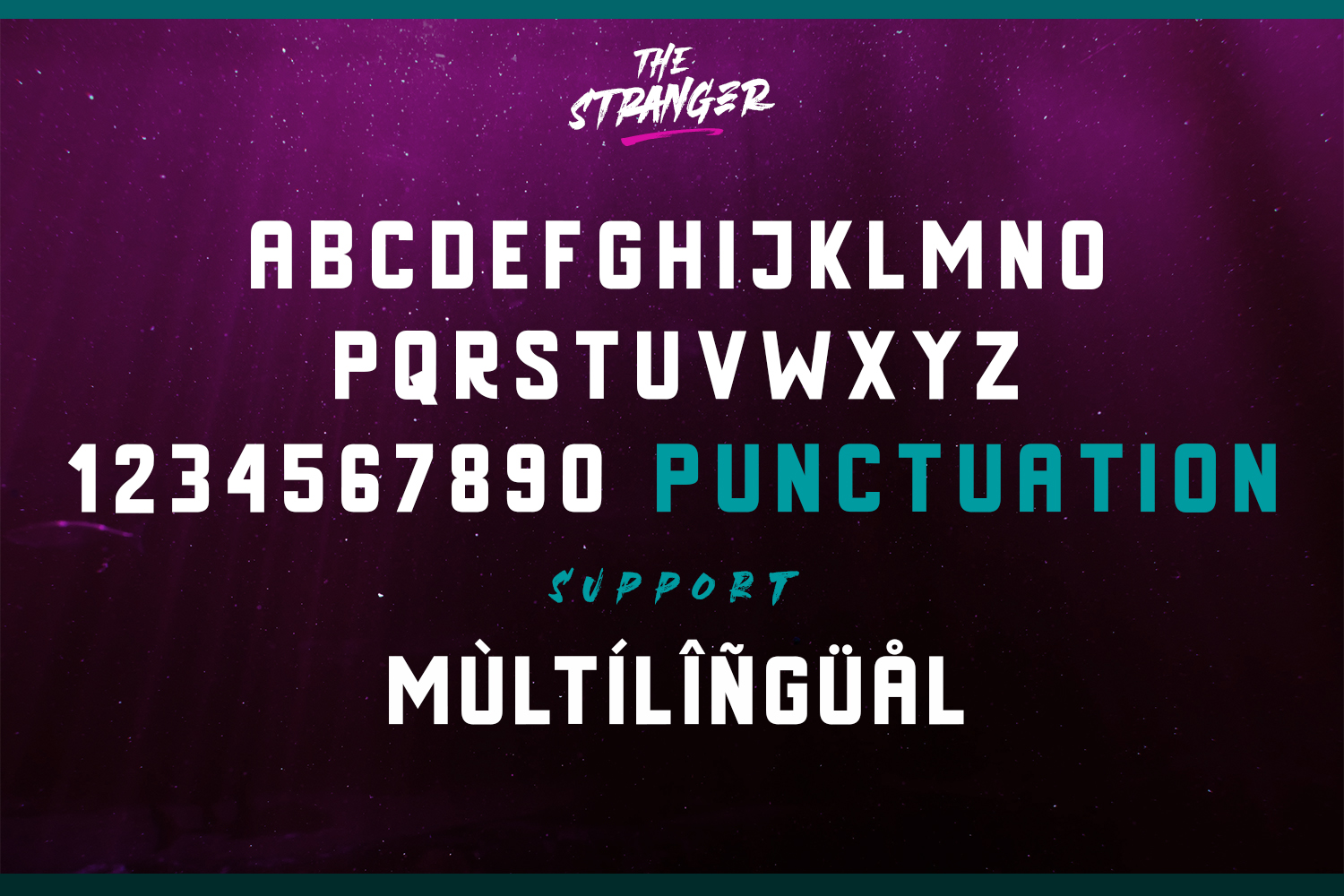 The Stranger Font Duo With Extras example image 11