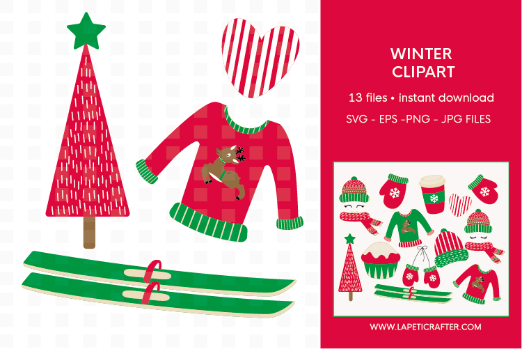 Winter Clipart, 13 instant download christmas vector example image 4