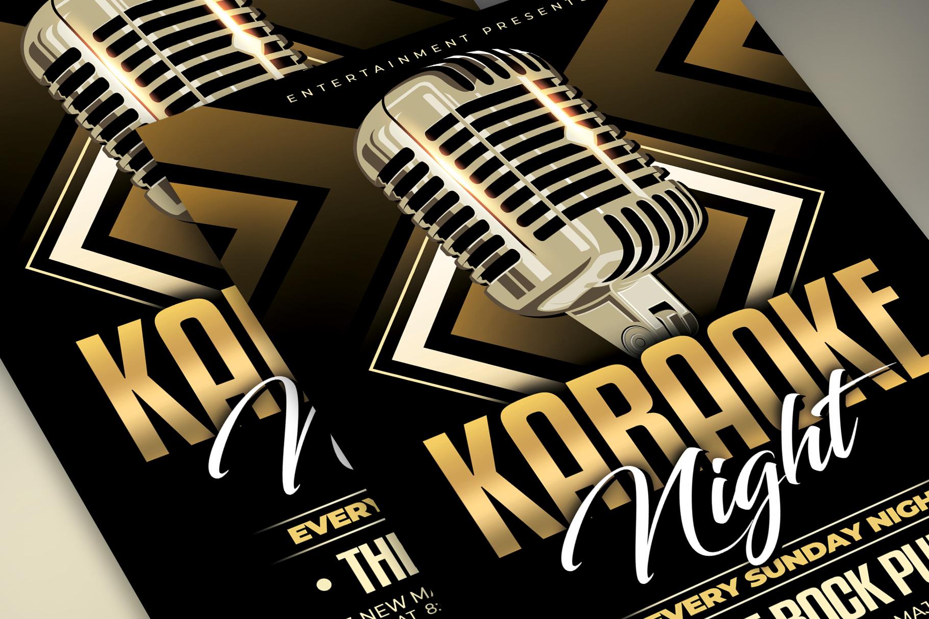 Karaoke Flyer Template example image 2