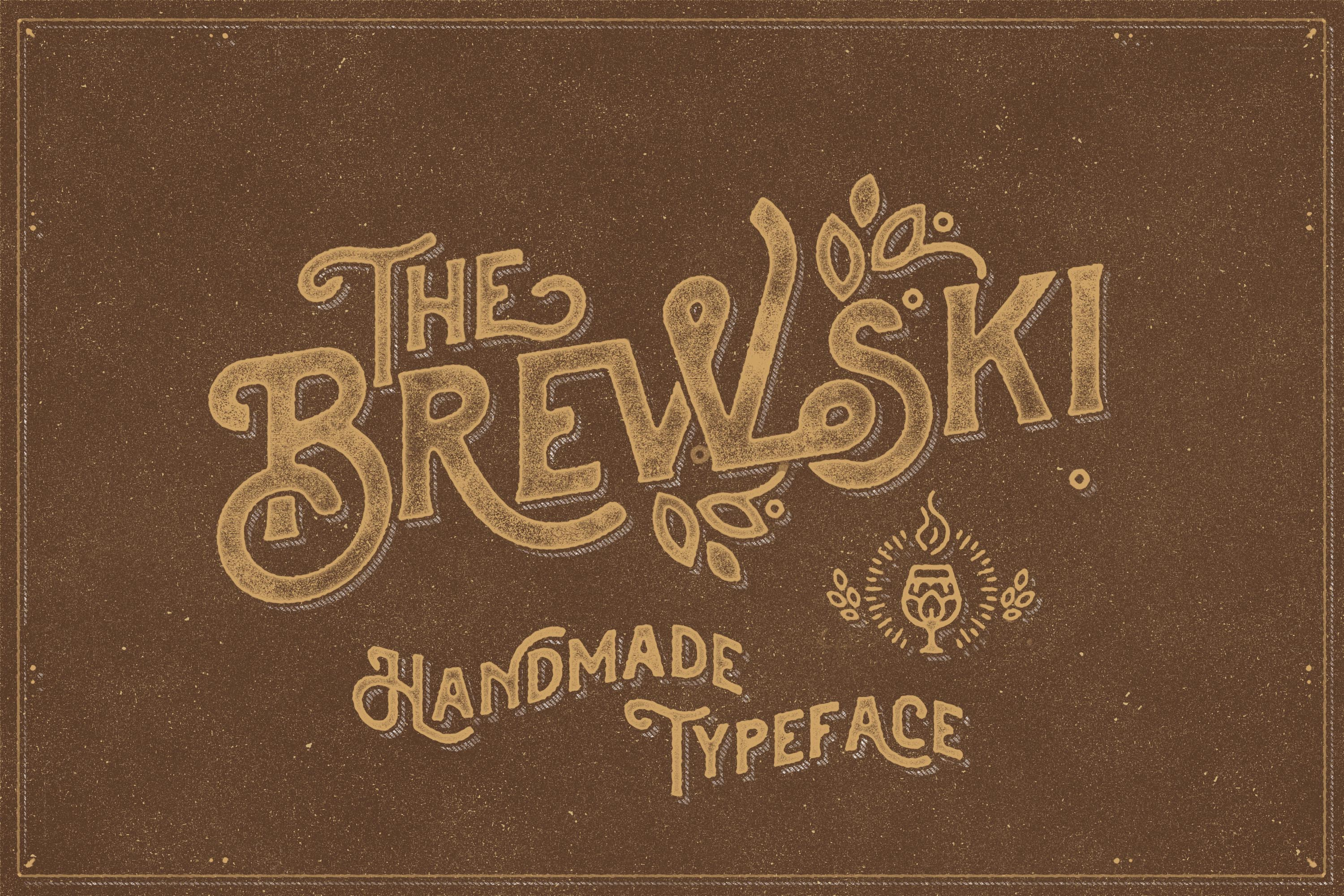 The Brewski - Textured Typeface example image 1