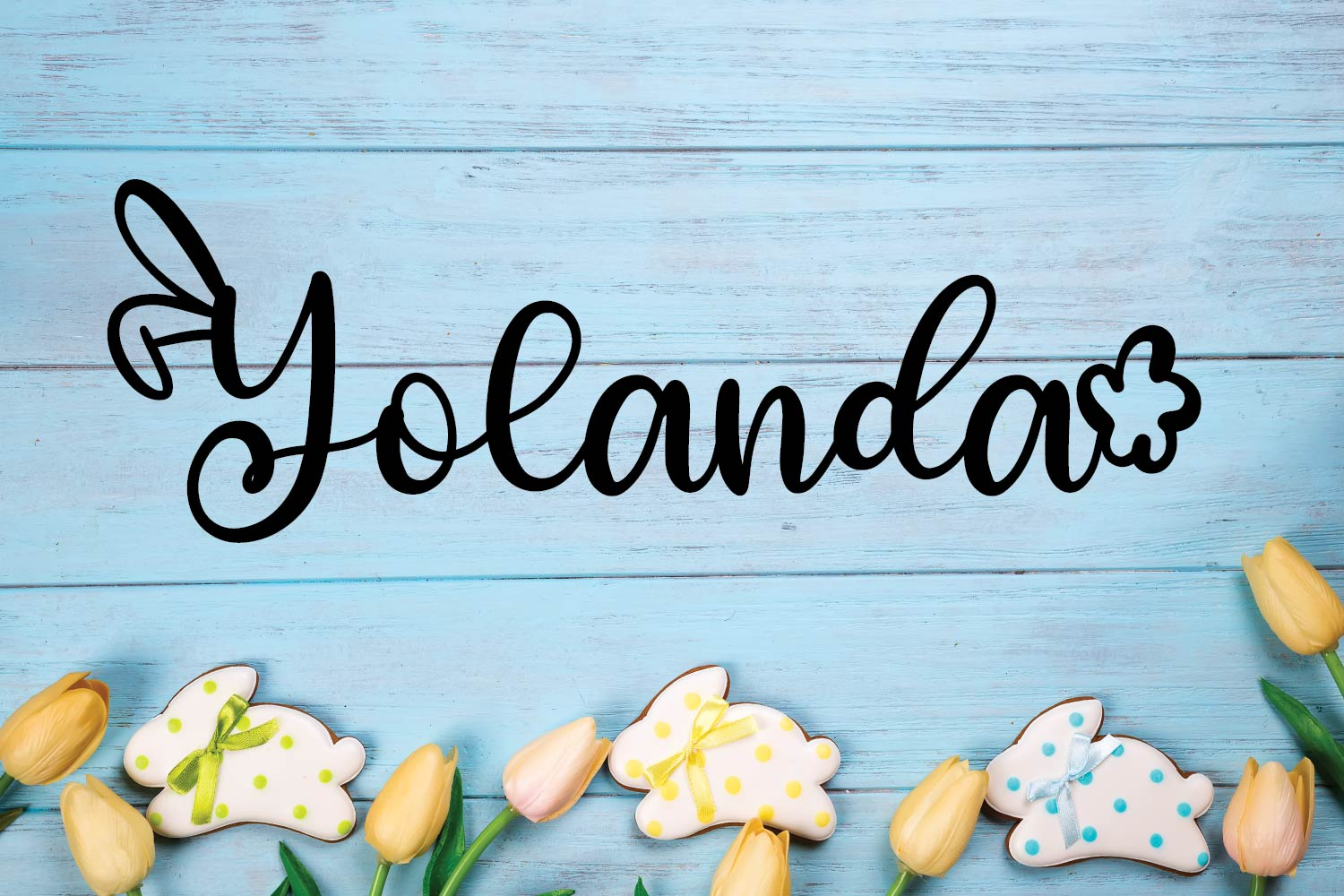 Rabbity - A Spring Font With Ears & Cotton Tails example image 6