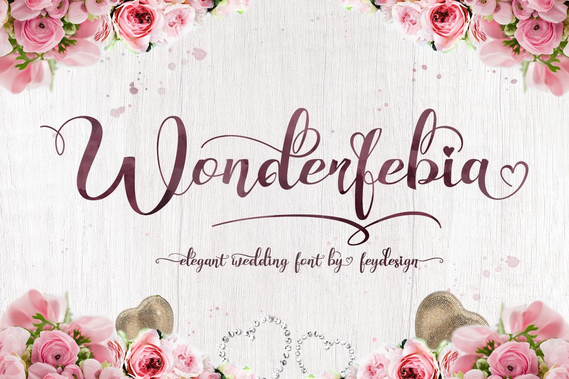 Wonderfebia - Script Wedding Font example image 1