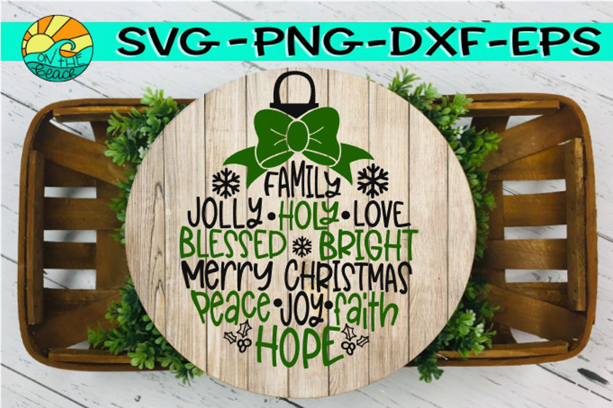Christmas Ornament Design - SVG PNG EPS DXF example image 2