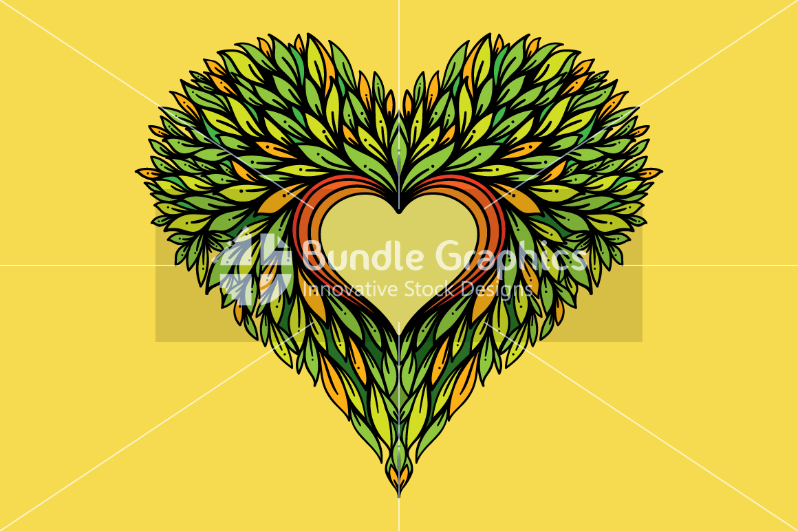 Nature Heart - Creative Heart Symbol example image 1