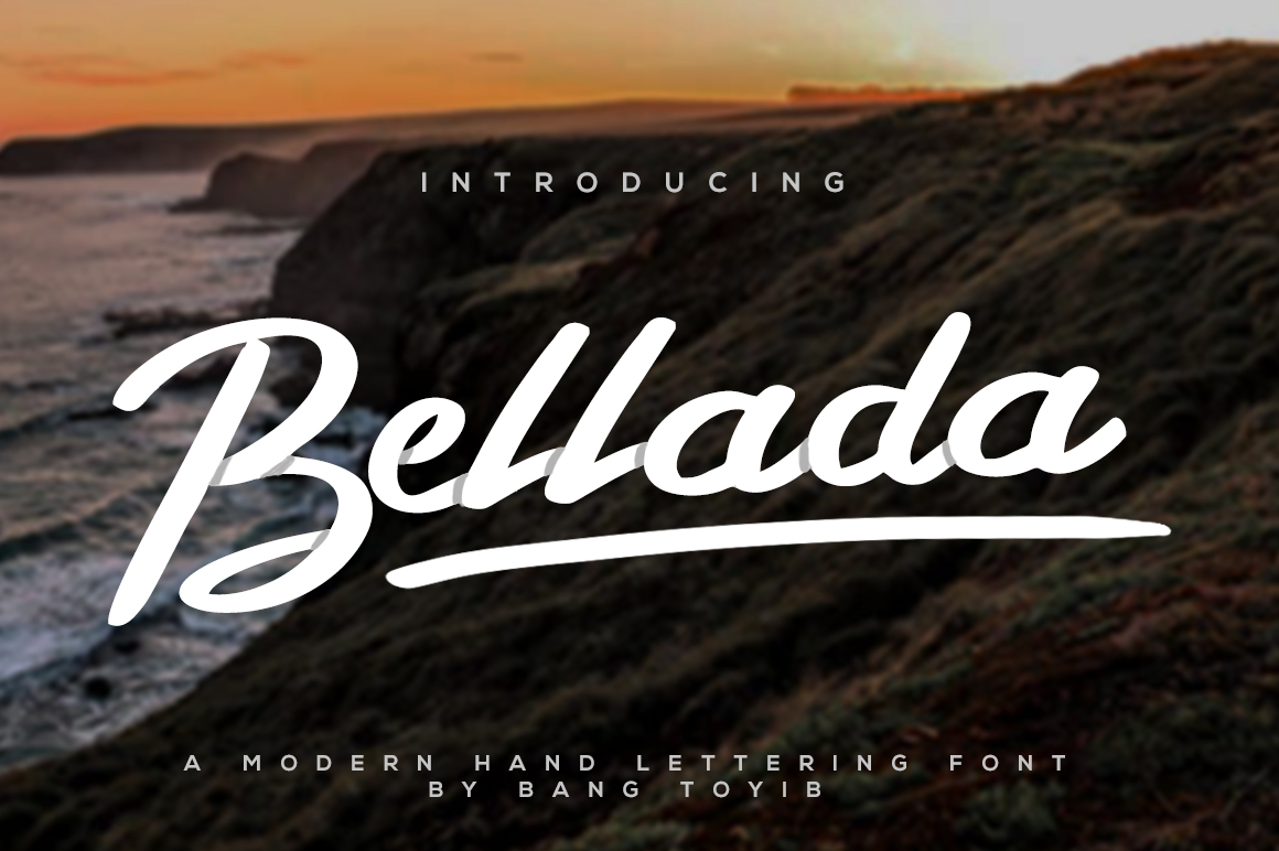 Bellada Script Font + Extras example image 1