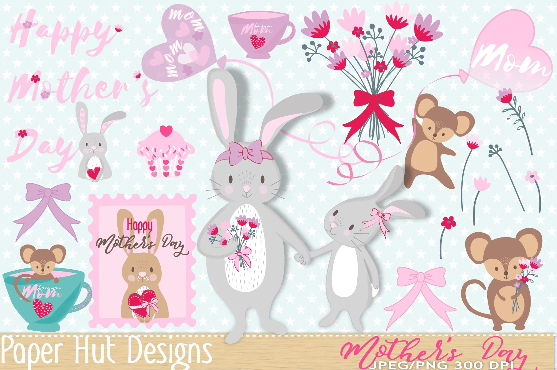 Mother's Day Clipart example image 1