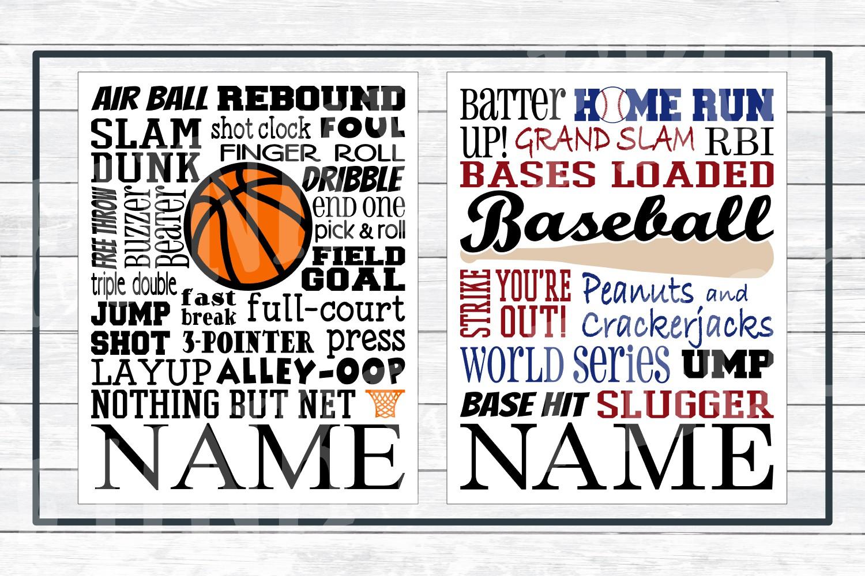 Sports Subway Art Design Bundle SVG Cut Files,PNG Printables example image 2