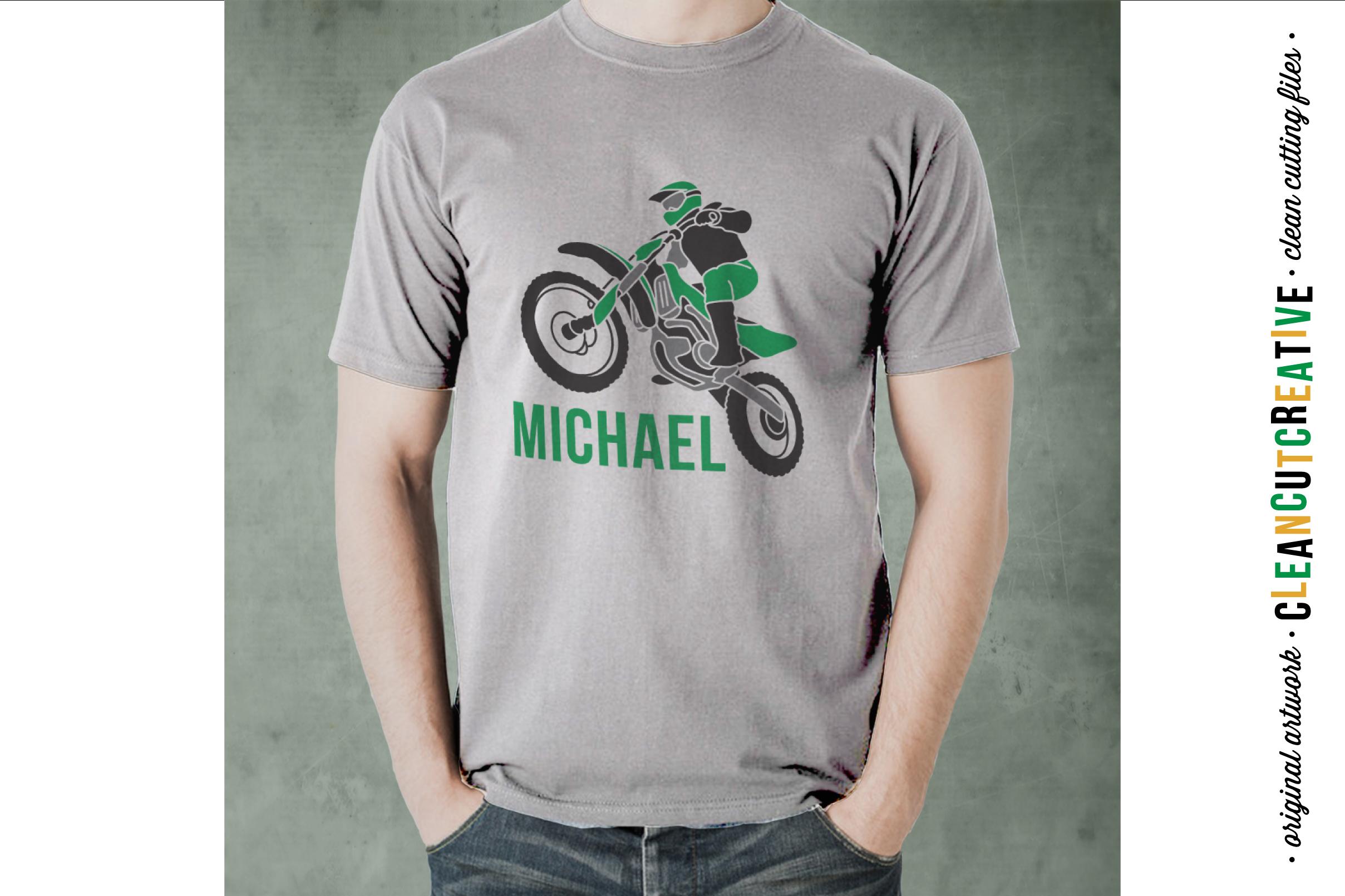 Motocross Dirt Bike design- SVG DXF EPSPNG - Cricut & Silhouette example image 2