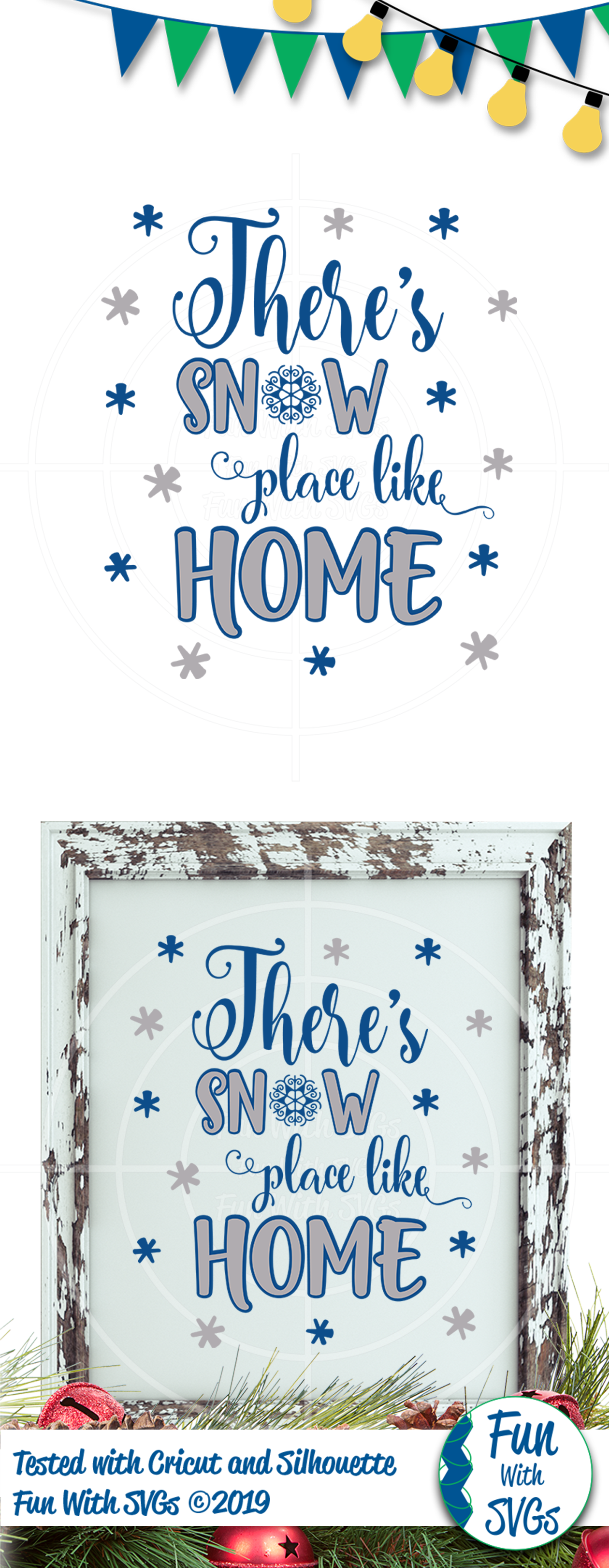 SVG There's No Place Like Home, Cut File, Clip Art FWS392 example image 2