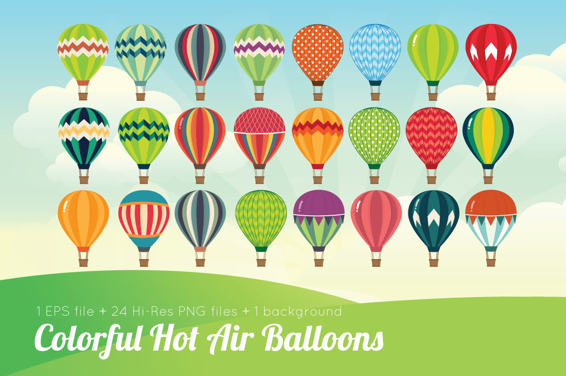 Colorful Hot Air Balloons example image 2